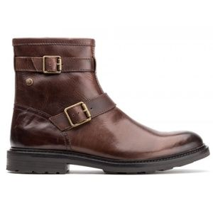 Base London Ortiz Men's Brown Leather Mid Top Boot